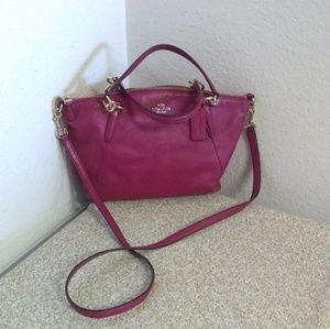 Coach Pebbled Leather Satchel Bag